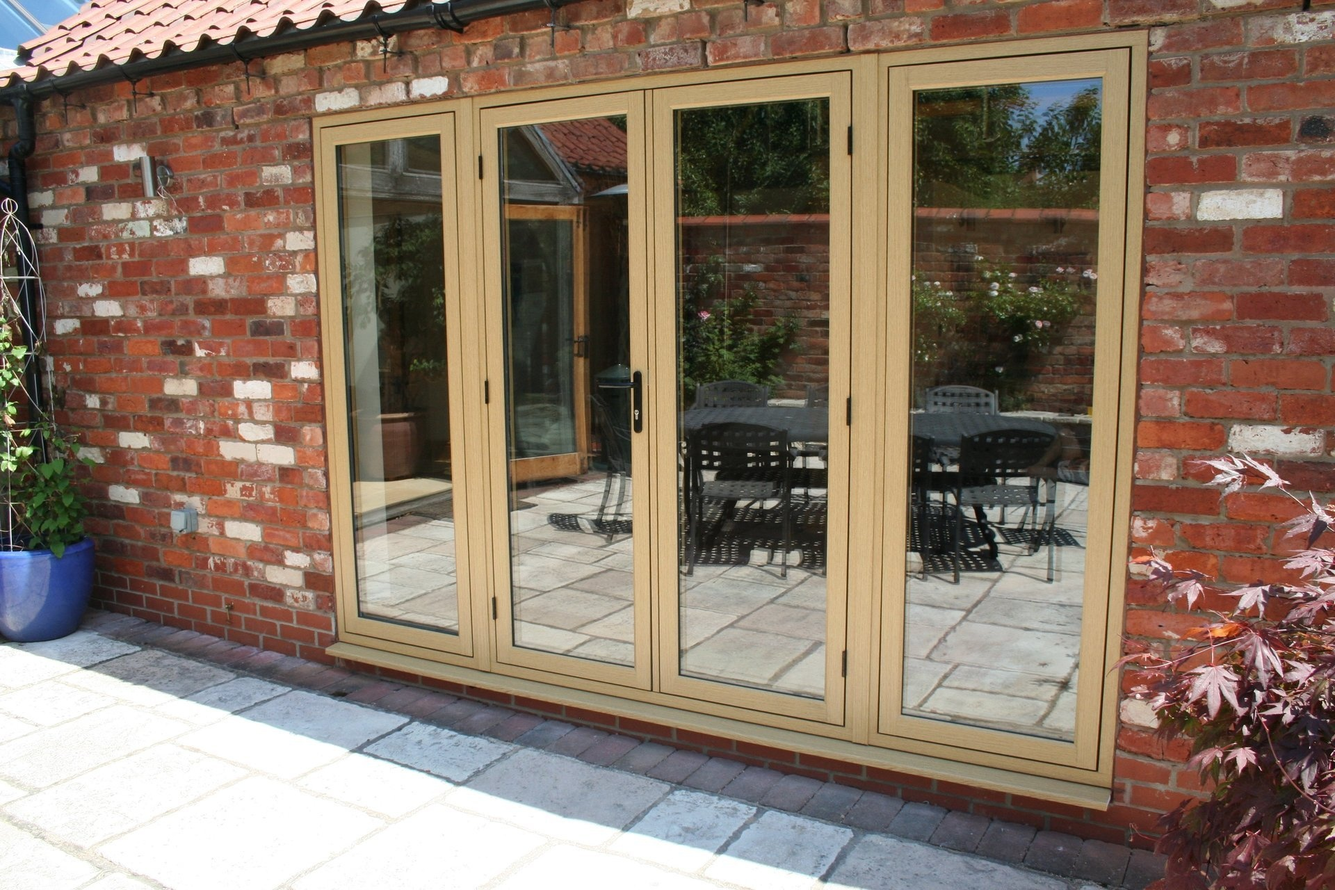 Timber Look French Doors